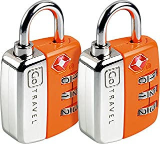 Design Go Twin Travel Sentry Lock Orange, One Size