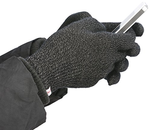 Agloves Polar Sport Unisex Touchscreen/Smartphone Gloves, Fleece Lined Interior For Comfort & Warmth, Compatible with: iPhone, Android, iPad & Nexus - S/M Black