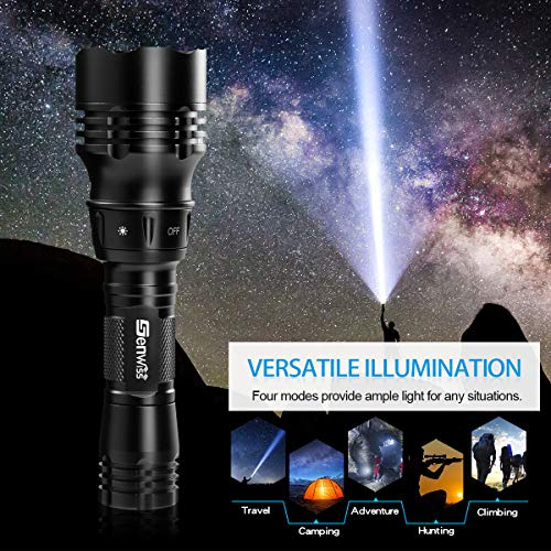 Genwiss Dive Light, Diving Flashlight Underwater Lights Scuba Diving Flashlight, 1000 Lumens Underwater 80M Flashlight for Diving Activities, Torch Light with Rechargeable Battery and USB Charge