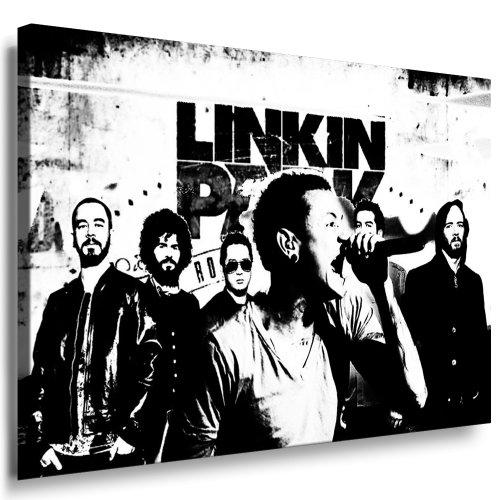 Bild auf Leinwand Linkin Park Kunstdruck 100x70cm k. Poster ! Bild fertig auf Keilrahmen ! Pop Art Gemälde Kunstdrucke, Wandbilder - Bilder zur Dekoration - Deko. Musik Stars Kunstdrucke