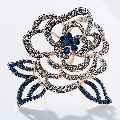 Broche de Esmalte de Flores para Mujer, Broche Hueco, joyería, Ropa, Bufanda, Hebilla, Accesorios para Prendas, Regalos de joyería Fina