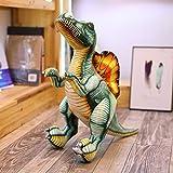 YZMY Almohada Decorativa Nueva Simulación Dinosaurio Muñeca De Peluche De Juguete Grande Spinosaurus Ragdoll Muñeca Linda Almohada Regalo Infantil Decoración del Hogar-80Cm_Verde