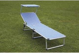 Alco M116077 aluminium bed met parasol Fibreline blauw - 1040anf-65az