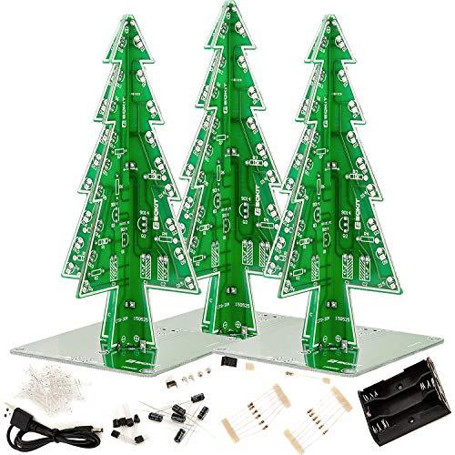 AZDelivery 3 x DIY LED Weihnachtsbaum Kit zum selber löten inklusive E-Book!