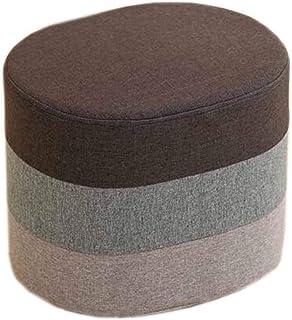 GWFVA Changement Banc Chaussures Chiffon Tissu Personnalité Mode Lavable Multicolore en Option - Ovale - Taille: 40 * 30 *...