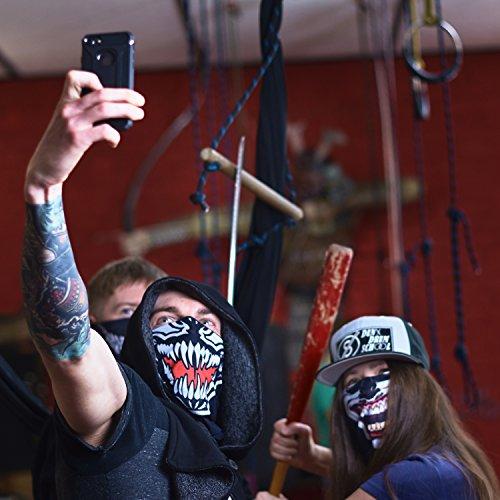 Venom Ghost Ninja Karneval Fasching gesichtsmaske gesichtsschal bandana sturmhaube funktionshaube gesichtshaube stirnhaube kopfbedeckung halsbedeckung stirntuch stirnband bekleidung hut mütze cap - 5