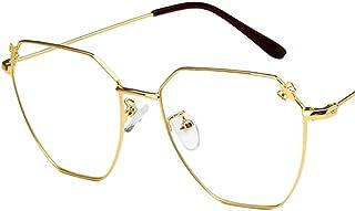 Unisex Glasses Frame Fashion Gold Black Polygon Full Frame Decoration Prescription Glasses