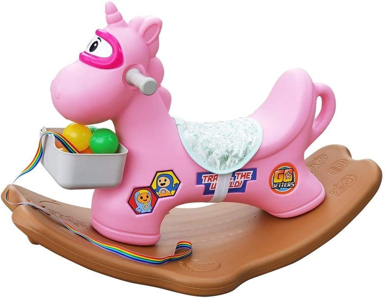 los clientes primero THBEIBEI PE Rocking Horse Kids Ride Ride Ride On Juguete Rocker Niños pequeños Entrenamiento de Equilibrio con Canasta de Almacenamiento con función de música Adecuada para Niños de 1 a 4 años  almacén al por mayor