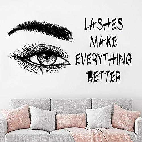 BailongXiao Rahmenlos-Wimpern Wandaufkleber Make-up Augenbrauen Wimpern d
