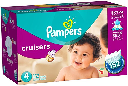Price comparison product image Pampers Cruisers Diapers Size 4 152 Count (old version)