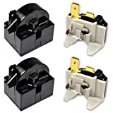 HQRP 2-Pack Compressor 4.7 Ohm 1-Pin PTC Starter/Start Relay and Overload Kit compatible with Mini Fridges, Compact Refrigerators, Beverage & Wine/Beer coolers, Deep Freezers, Beer/Wine Refrigerators