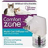 Comfort Zone Calming For Single and Multi-Cat Homes , Cat Pheromone, Single Diffuser Kit, 1 Diffuser, 1 Refill-48ml, New Formula