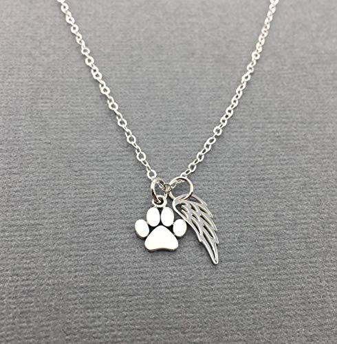Sympathy Gift for Passing of Dog or Cat 925 Sterling Silver Butterfly Necklace in Remembrance of Pet Condolences Jewelry Condolence Gifts
