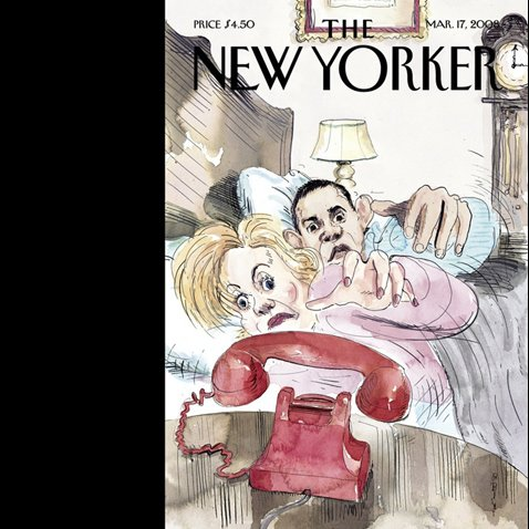 The New Yorker (March 17, 2008) cover art