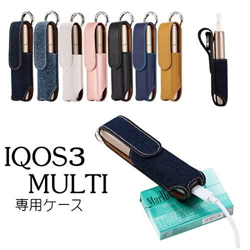 IQOS3 アイコス3 MULTI 対応 レザーケース Black in-iq3-1006-05