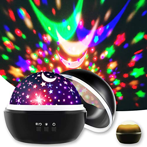 16 Modes Soothing Light Show Star Projector for Bedroom, Faster Fall Asleep Solution for Kids Babies Adults in Bedtime, Kids Gifts for 1 2 3 4 5 6 7 8 9 Year Old