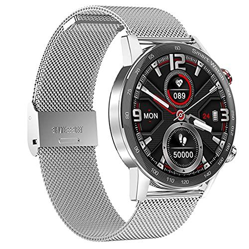 Smart Watch, 1.28 '' Toque Completo Fitness Tracker Salud Tracking Monitor De Ritmo Cardíaco Notificación De Mensaje IP68 Empresa De Deportes Al Aire Libre Impermeable,C