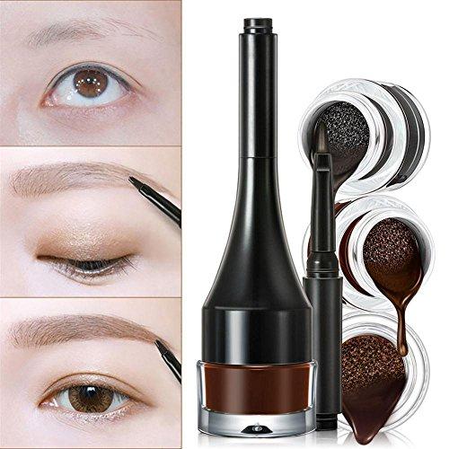 AugenbrauenGel Professional 3 IN 1 AugenbrauenCremeStiftPuderwasserdichtes AugenbrauenMakeupTool