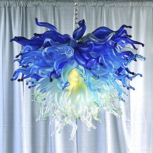 SHIJING Lustre Gekleurde Hand Geblazen Glas Kroonluchter voor Huis Moderne Minimalistische Kroonluchter Licht
