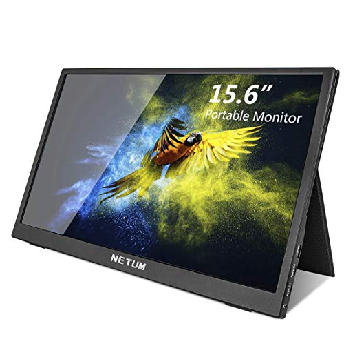 Portable Monitor - NETUM 15.6 Inch USB-C Portable Display, 1080P HDR IPS Touchscreen USB C Gaming Monitor with USB Type-C HDMI for Laptop PC MAC Phone Xbox Switch PS4 Include Smart Cover