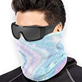 LisaArticles Scarf Headband,Pasamontañas De Limón Y Flor, Hermosos Protectores Faciales Deportivos para Protección UV Al Aire Libre,26x30cm