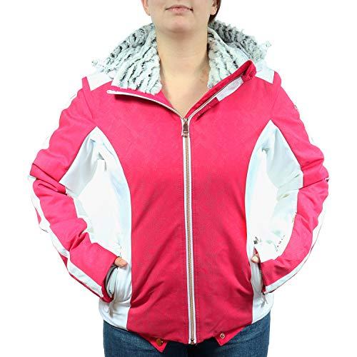 LUHTA dames winterjas Prisilla roze/wit 232440325L