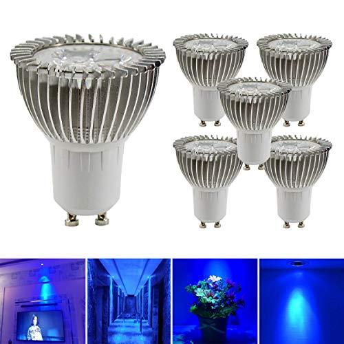 GreenSun LED Lighting 5er GU10 LED Lampe, 3W Reflektorlampe 240lm, Ersetzt 20W Halogenlampe, 220V LED Leuchtmittel Spot Lampe LED Birne Stahler, 120° Abstrahwinkel, Blau-Licht