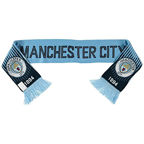 ICON Manchester City Soccer/Football Club Official New Double Sided Scarf