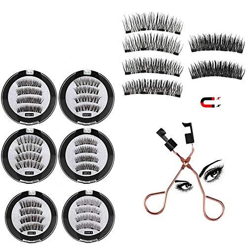 KKPW Ciglia magnetiche quantistiche 8D con Tecnologia a magneti Morbidi Dual Natural Lash, con 1 Clip per eyelashe