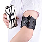 Chuangxinfull Universal Sports Armband for Cell Phone iPhone 11 Pro Max XS Max XR 8 Plus, Galaxy S20 Ultra, S10 Plus, Note 10+, Note 20 Ultra, for Running Jogging Hiking Cycling Exercise (Black)