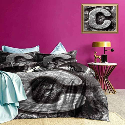 Adorise Tagesdecke Bettbezug Set Fused Elements Name Leichter Tröster Koffer Set Luxus Cool Lightweight - King Size