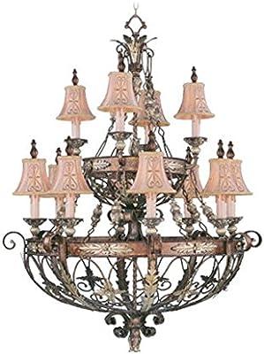 Amazon.com: candelabros 4 luz con Palacial acentos de bronce ...