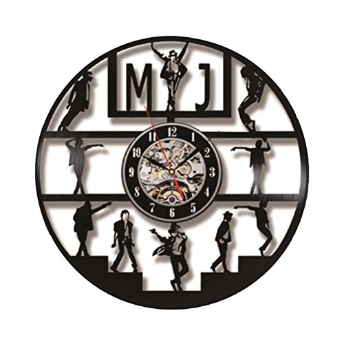 horloge murale Michael Jackson Pop King Music Vinyl LED Record Clock Vinyl Creative Round Decor Wall Clock Best Gift For MJ Fans Clock