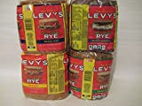 Levy's Real Jewish Rye Bread, Variety Bundle! Seedless, Seeded, Pumpernickel, Everything. Four Pounds of Rye Bread!