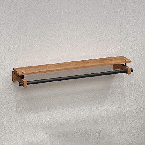 SKC Lighting-Porte-manteau Rétro crochet porte-manteau en fer forgé solide bois Wall Rack plancher-debout salon mur rack durable/rouille/amovible/facile à installer (100cm, 120cm)