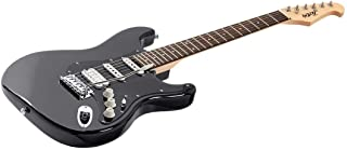 Monoprice Indio Cali Classic HSS Electric Guitar - Black, With Gig Bag