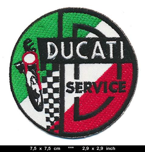 Ducati Service Patches Aufnäher Aufbügler Motorrad Desmo Oldtimer DUC05