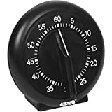 Kitchen Timer 60 Minute - Mechanical Timing - Loud Alarm - For Cooking, Baking, Gym, Homework, or Office Meetings (black)