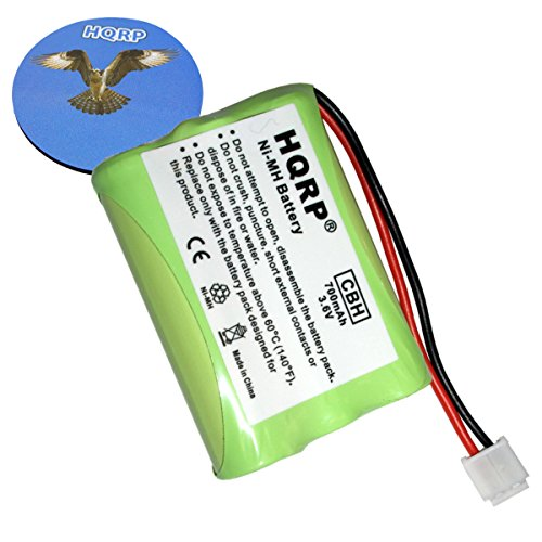HQRP Phone Battery Compatible with Clarity C435, C440, C600, W425, W425 Pro Cordless Telephone Plus Coaster