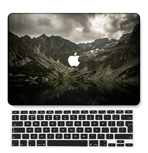 GangdaoCase Carcasa rígida de plástico ultrafina, ligera, compatible con MacBook Pro de 13 pulgadas con/sin barra táctil/Touch ID con teclado del Reino Unido A2159/A1989/A1706/A1708 (Sky Series 0468)