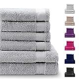 Twinzen Chemikalien-Frei Handtuch Set mit 4 Handtüchern und 2 Badetüchern