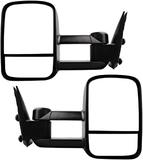 Towing Mirrors for 1999-2007 Chevy Silverado GMC Sierra 1500 2500 3500 Truck Manual Telescoping Side Mirrors Pair Set