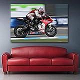 wydlb Pittura su Tela Moto Honda SportBike Superbike da Corsa da Corsa Poster e Stampe Immagine di Arte della Parete per la Decorazione Domestica 60x80cm Senza Cornice