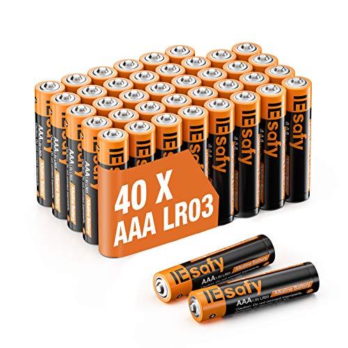 Batterien AAA LR03 Alkaline Batterie Alkalische Zelle 1.5V Einwegbatterien Langlebige Kraft Lange Lagerzeit für Spielzeug Taschenlampe Fernbedienung Radio Wecker und Uhr (40er Pack)