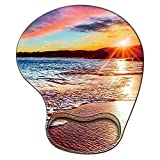 Gaming Mouse Pad with Wrist Support,Glorious Ergonomic Mousepad, Cute Computer Laptop Mouse Pads as Home Office Desktop Accessories or Ideal Colorful Beach