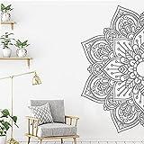 Lotus Mandala Zen decoración calcomanía vinilo Yoga pegatina estilo bohemio hogar medio Mandala cabecera pared calcomanía arte Mural A6 42x85cm