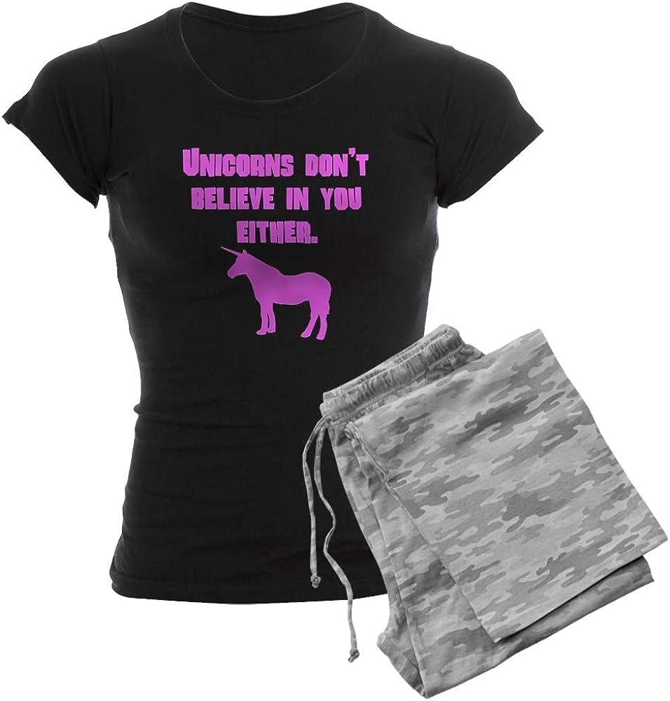 CafePress Pink お買い得 Unicorns Dont Believe PJs Women's 祝日 in You