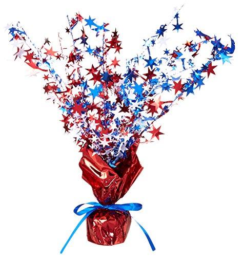 Star Gleam 'N Burst Centerpiece (red, white, blue) Party Accessory (1 count) (1/Pkg)