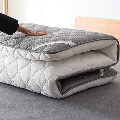 hxxxy Japanisches Tatami Boden Matte,Verdickte japanischen futon matratzenauflage schlafen pad Faltbare dicken zusammenklappbar Portable-Weiß 150x200cm(59x79inch)