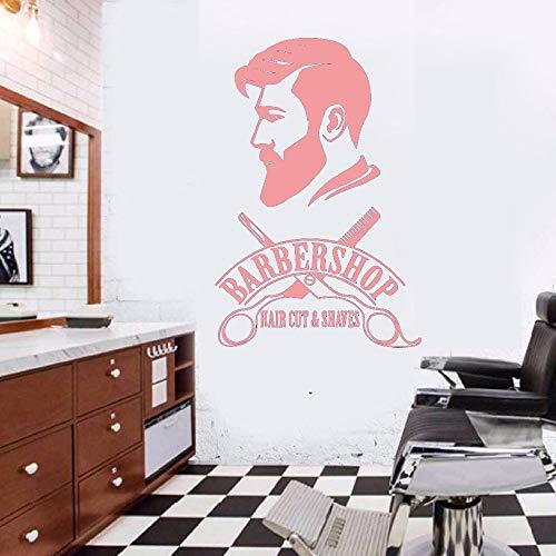 Ajcwhml Classic Barber Shop Vinilo Pegatinas de Pared Murales Calcomanías para Ventanas Papel Tapiz Decorativo para el hogar a Prueba de Agua extraíble 粉色 58cm X 87cm